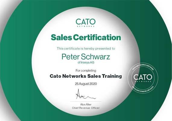 Sales Certification Cato Cloud - Peter Schwarz