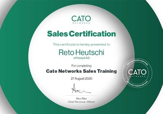 Sales Certification Cato Cloud - Reto Heutschi