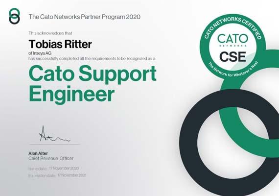 Cato Support Engineer Zertifikat - Tobias Ritter