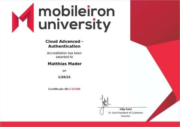 MobileIron Cloud Advanced - Authentication