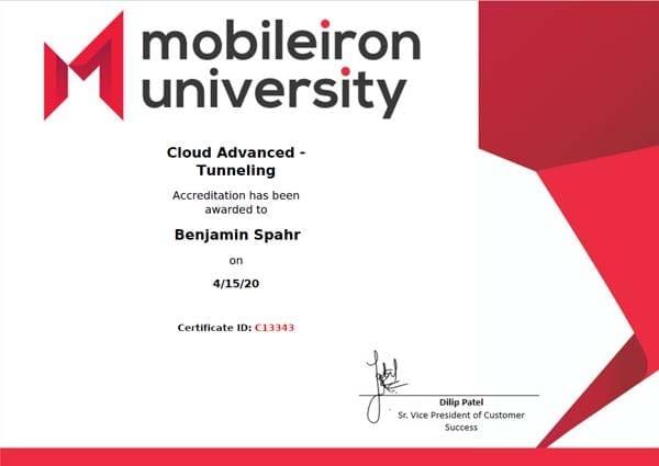 MobileIron Cloud Advanced - Tunneling