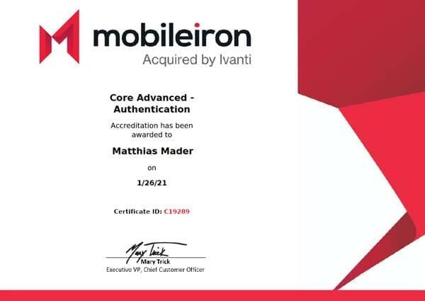 MobileIron Core Advanced Authentication