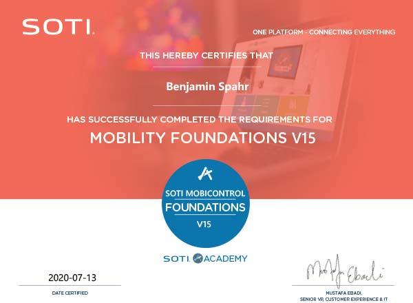 SOTI MobiControl Zertifikat: Mobility Foundations